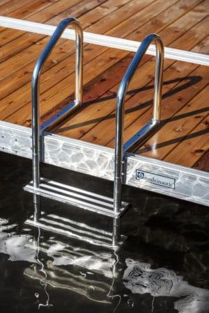 """Aluminium Ladder for dock 4 steps (4"""") - 15513"""