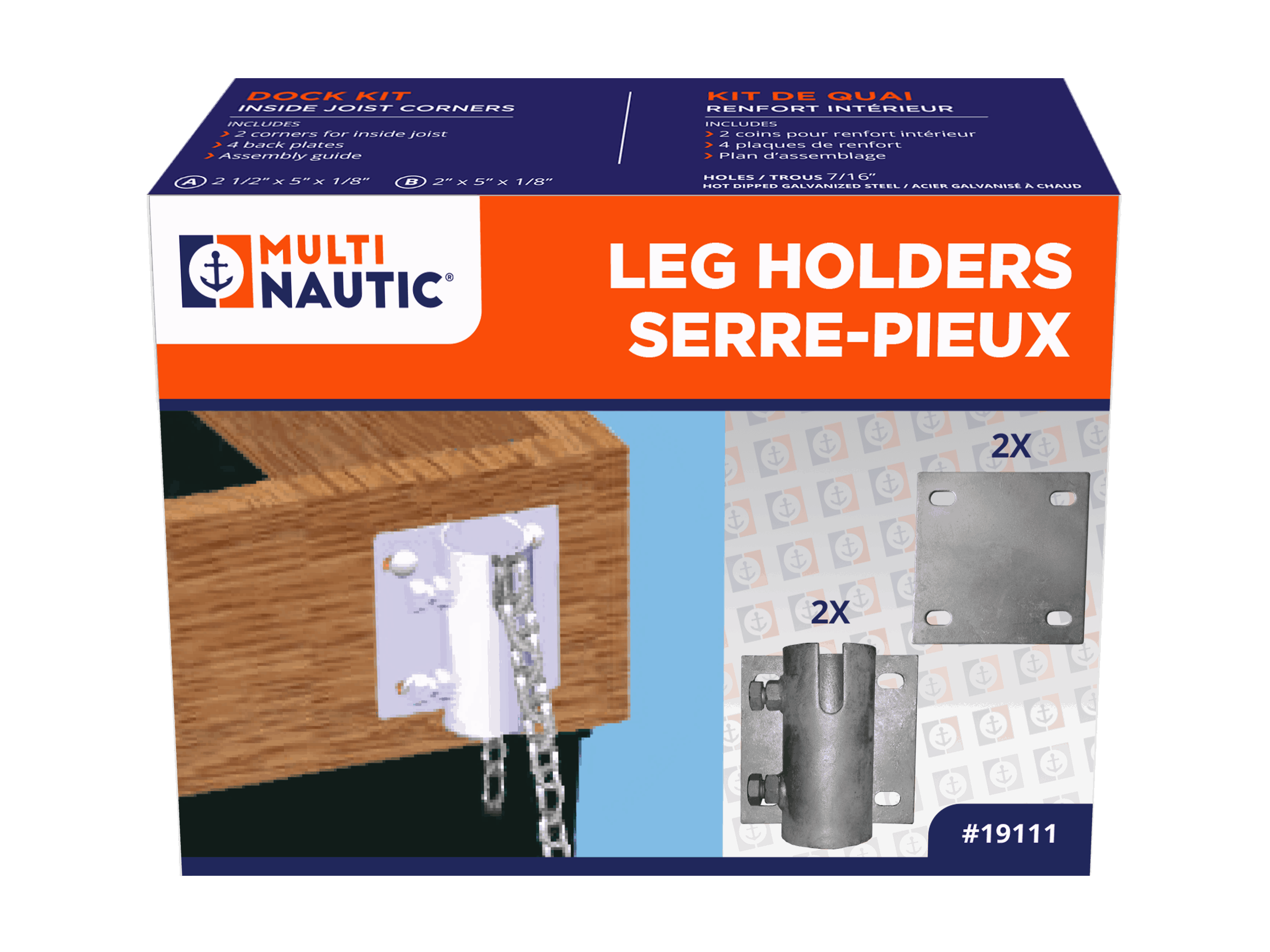 Leg holder / Anchor chain kit | Multinautic