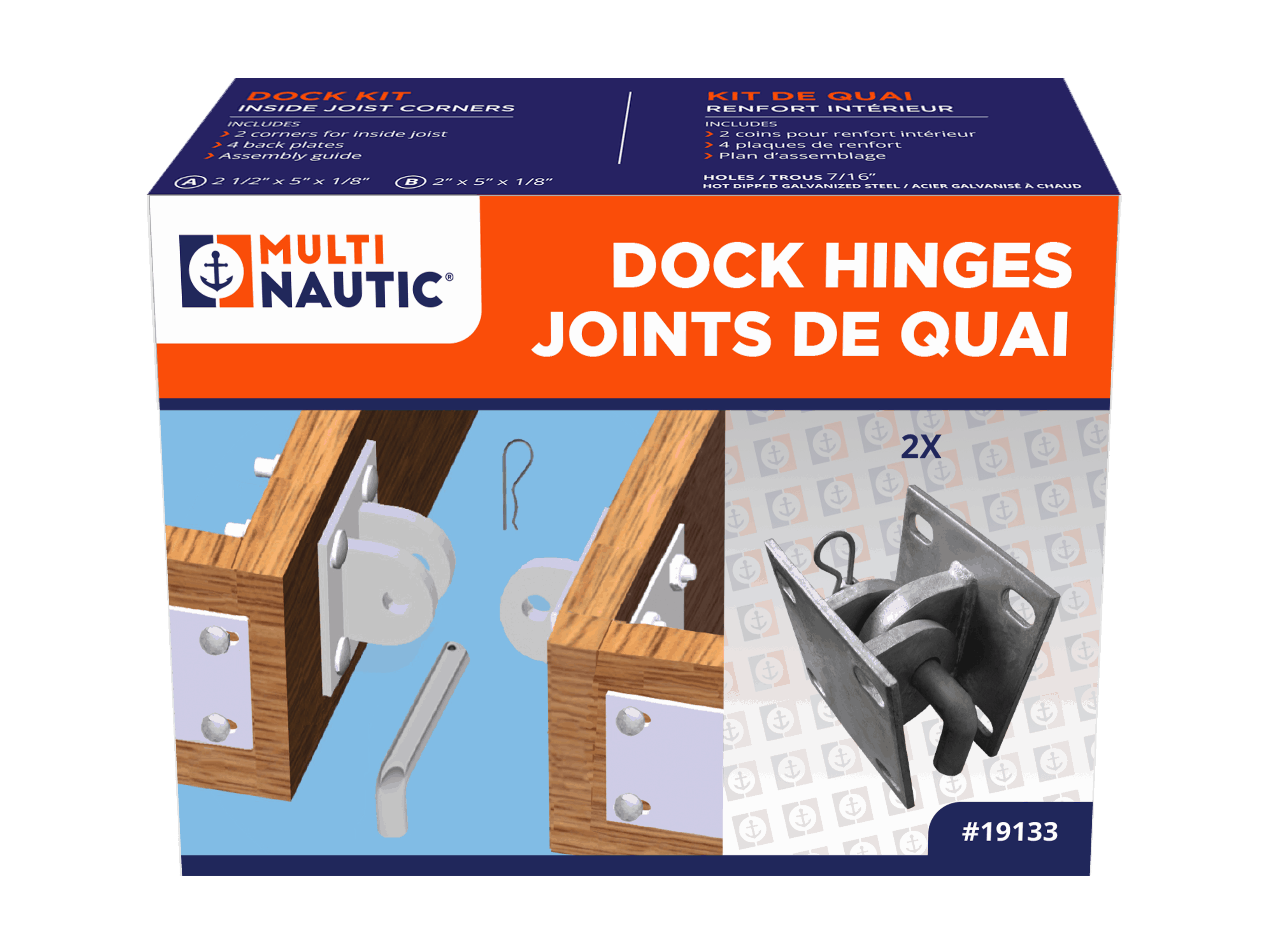 Floatng Dock Hinge Pin Hvy Dty
