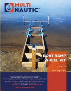 Boat ramp wheel kit