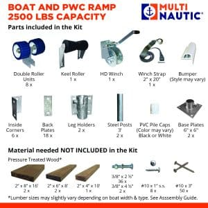 Boat ramp kit parts included