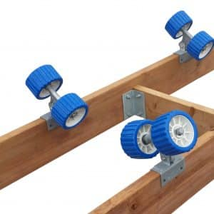 Blue wheel kit for boat ramp