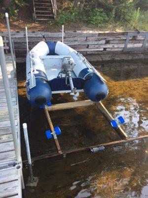 Boat roller ramp kit