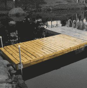 Floating dock in wood 19368